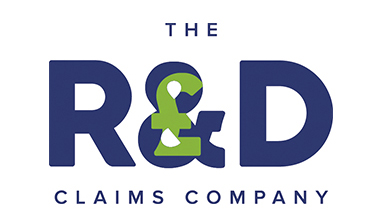 The R & D Claims Company logo